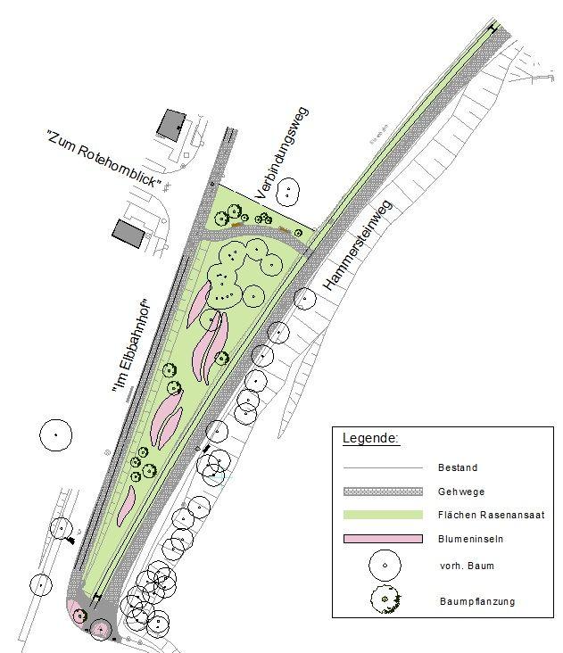 Lageplan Hammersteinweg - Elbuferpromenade Magdeburg