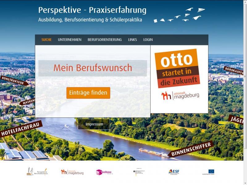 Startseite Onlineportal Praktikum und Ausbildung in Magdeburg