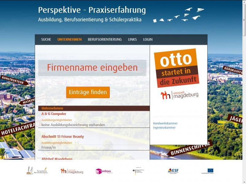 Firmen Unternehmen finden Praktikum Magdeburg Ausbildung