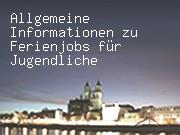 Allgemeine Informationen zu Ferienjobs für Jugendliche