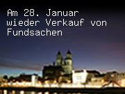Am 28. Januar wieder Verkauf von Fundsachen