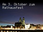 Am 3. Oktober zum Rathausfest
