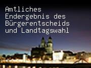Amtliches Endergebnis des Bürgerentscheids und Landtagswahl
