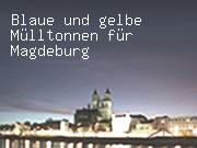 Blaue und gelbe Mülltonnen für Magdeburg