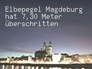 Elbepegel Magdeburg hat 7,30 Meter überschritten