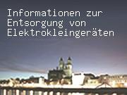 Informationen zur Entsorgung von Elektrokleingeräten