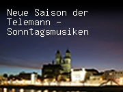 Neue Saison der Telemann - Sonntagsmusiken
