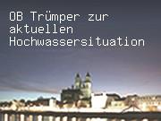 OB Trümper zur aktuellen Hochwassersituation in Magdeburg
