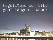 Pegelstand der Elbe geht langsam zurück
