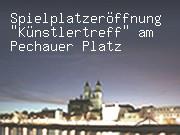 """Spielplatzeröffnung """"Künstlertreff"""" am Pechauer Platz"""