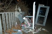 Telefonzelle in Magdeburg-Rothensse gesprengt