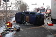 Verkehrsunfall mit PKW und LKW auf Berliner Chaussee
