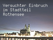 Versuchter Einbruch im Stadtteil Rothensee