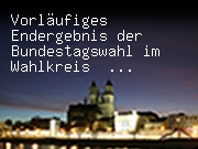 Vorläufiges Endergebnis der Bundestagswahl im Wahlkreis Magdeburg